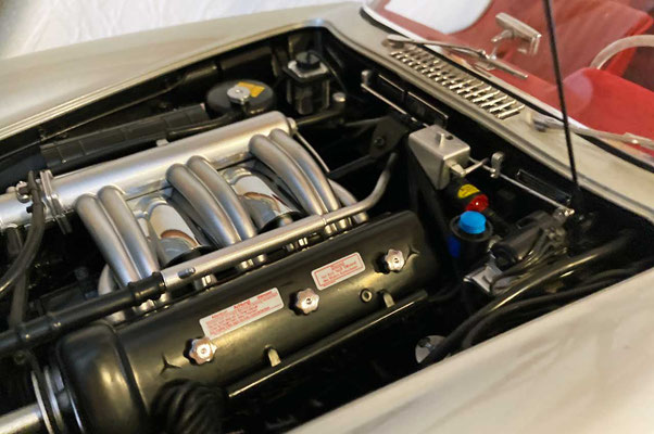 Noch ein Blick in den Motorraum. Leider sieht man nur einen Bruchteil der verbauten Details.