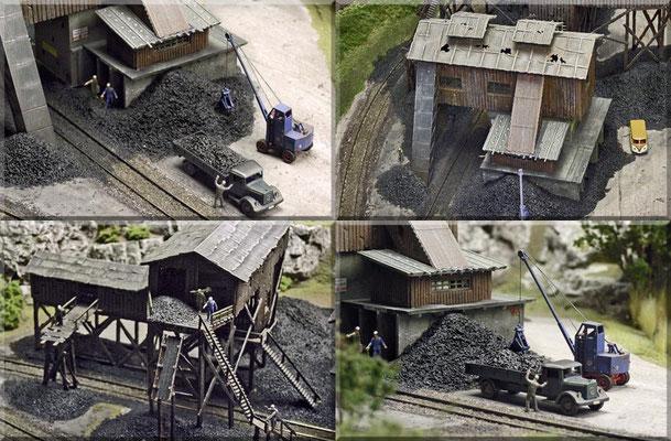 Details, rund um die Kohlemine. Die Gleise sind im Bereich der Mine in den Boden eingelassen worden.