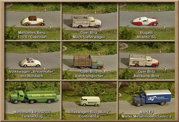 Weitere Marks Metallmodellclassic's Autos. Es sind handgefertigte Weißmetall-Modelle in Kleinserie produziert.