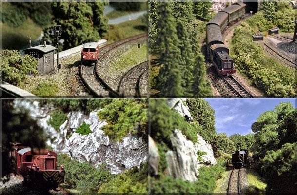Die Nebenbahn führt durch äußerst abwechslungsreiche Landschaftsabschnitte und bietet dadurch jede Menge interessante Fotostandpunkte. Für solche Bilder ist ein kompakte Digitalkamera besser geeignet als die große Spiegelreflex. ... aus Platzgründen.