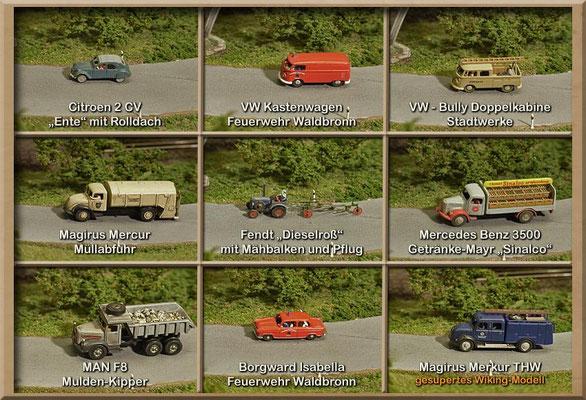 Wer schöne Straßenfahrzeuge aus der Epoche 3 - also den 50er und 60er-Jahren sucht - wird bei Marks sicher fündig.