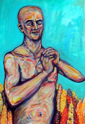 Öffne dein Herz, Acryl auf Baumwolle, 70 x 100 cm, 2012