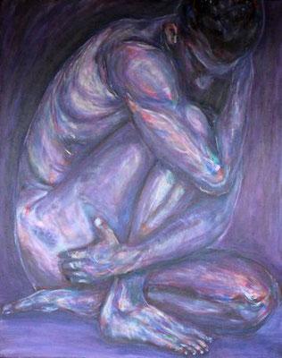 """Tanz des Lebens - violett"", Acryl auf Leinwand, 80 cm x 100 cm, 2016"