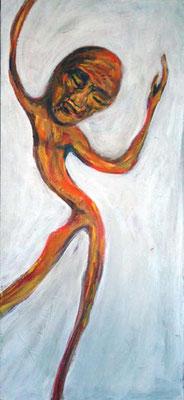 38 In sich, 26 x 58 cm, Acryl auf Holz, 2008 - 350 Euro