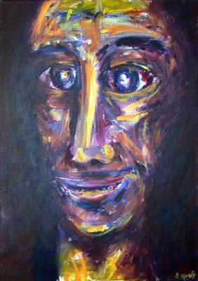 14 Der Narr von Cordoba, 50 x 70 cm, Acryl auf Baumwolle, 2008 - 700 Euro