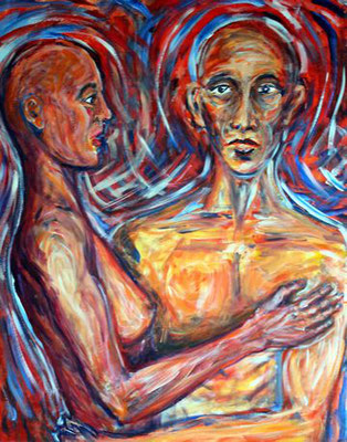 75 Zweifel und Hoffnung, Acryl auf Baumwolle, 80 x 100 cm, 2010 - 900 Euro
