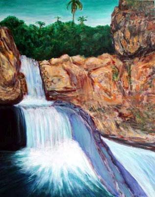 69 Wasser des Lebens, 80 cm x 100 cm, Acryl auf Baumwolle, 2012 - 1400 Euro