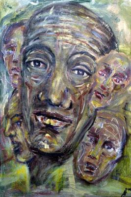 3 Abrahams Erweiterung, 40 cm x 60 cm, Acryl, Lack auf Baumwolle, 2006 - 600 Euro