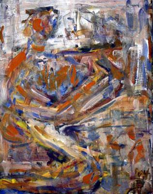 17 Der verborgene Traum, 35 cm x 40 cm, Gouache auf Baumwolle, 2004 - 300 Euro