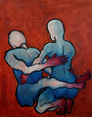 """""""Yoke"""", 24""""x 18"""", Acrylic Painting, 2020"""