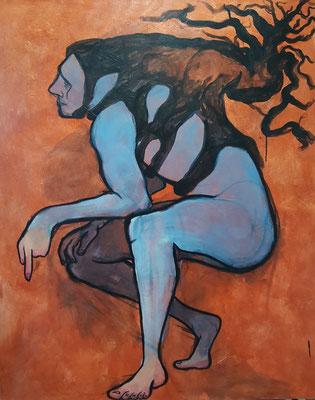 """Hypoxia 1"" 5'x4', Acrylic on Canvas, 2020"