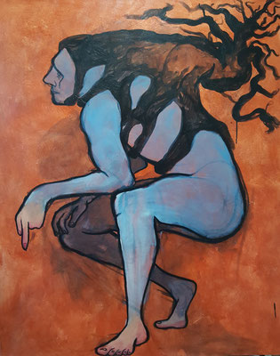 """Hypoxia "", 5'x4', Acrylic on Canvas, 2020"