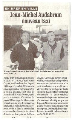 Article La Dépêche du Midi Mai  2005