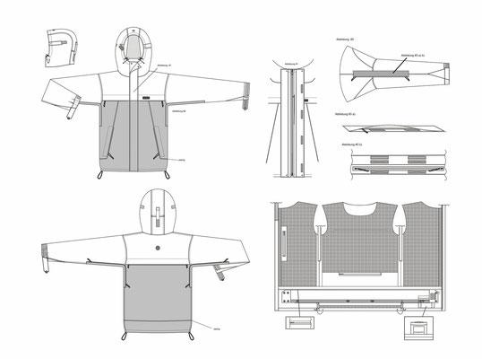 Active Sportswear Technische Zeichnung