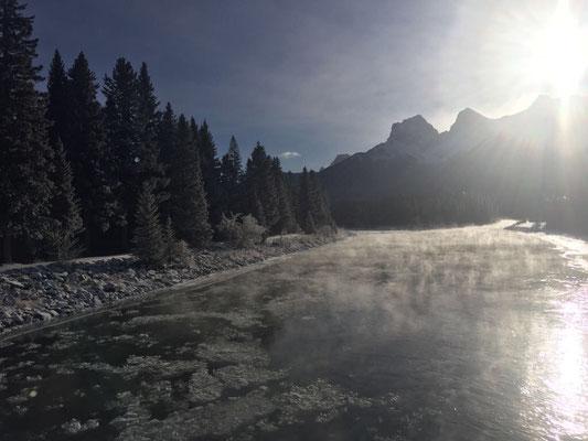 Paula liebt die winterliche Stimmung in den Canadian Rockies.