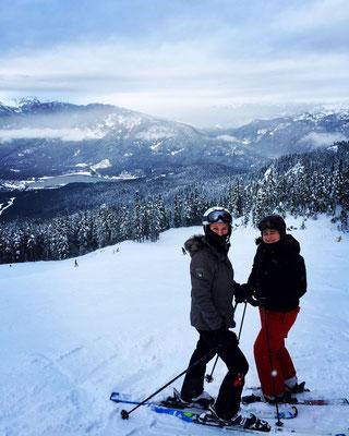 Skivergnügen mit fantastischer Aussicht - Janina in Whistler