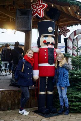 Janina auf dem Weihnachtsmarkt in Vancouver