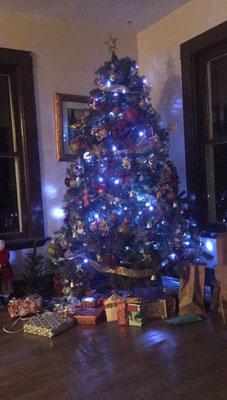 Viele Geschenke und ein leuchtender Baum, ein rundum schönes Weihnachtsfest für Nithusha