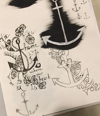 Konstruktive Kritik gehört in Kanada zum Kunstunterricht, dadurch entwickelt sich Tabea kontinuierlich weiter