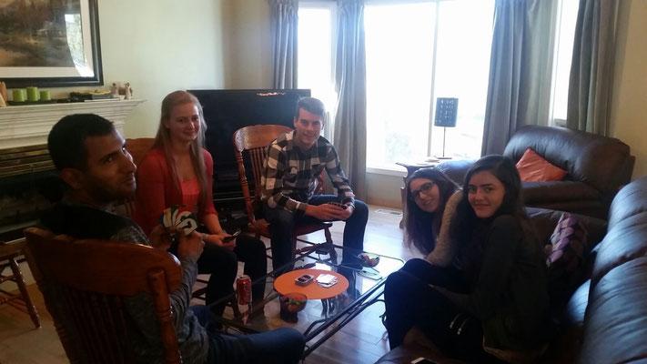 Die Familie an Thanksgiving