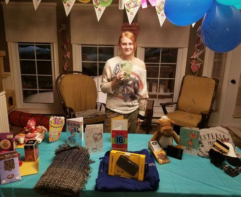 Zu ihrem 16. Geburtstag wurde Johanna reich beschenkt