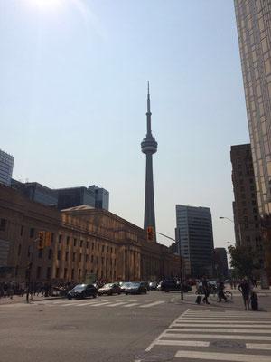 Zum CN-Tower läuft Merle nur rund 15 Minuten, denn mit ihrer Gastfamilie wohnt sie mitten im Herzen Torontos.