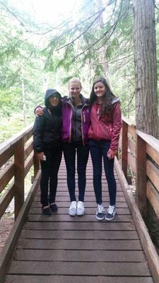 Teresa mit Chantal und Nathalie in Vernon