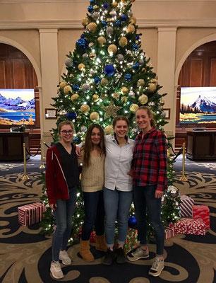 Während ihres Auslandsjahres in Kanada verbringt Paula auch Weihnachten in den Rocky Mountains.