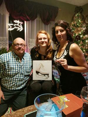 Ein tolles Weihnachtsgeschenk der kanadischen Gastmutter