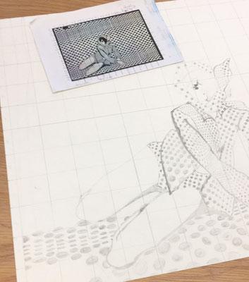 Aus kleinen Skizzen entstehen große Kunstwerke