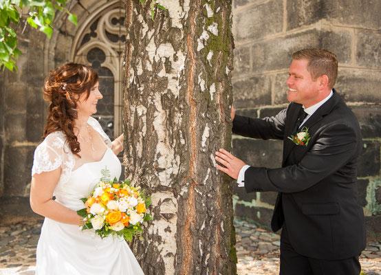Peterskirche Außenaufnahmen Hochzeitsfotos Görlitz