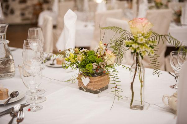 Hochzeitstisch Blumen Tauchritz bei Görlitz