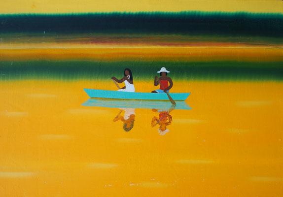 カヌー / canoe,   油絵 / Oil Painting,  2019