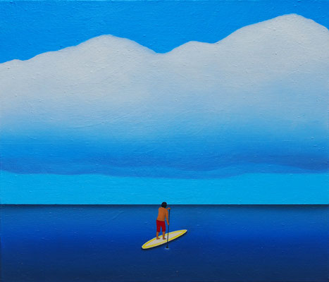パドリング / Stand Up Paddle Boarding,   油絵 / Oil Painting,  2019