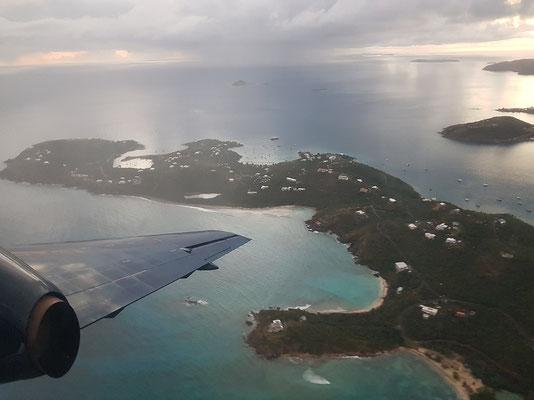 Wunderschöne Aussicht auf die Jungferninseln