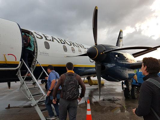 10 oder 11 Reihen gibt es bloß bei der Airline Seaborne