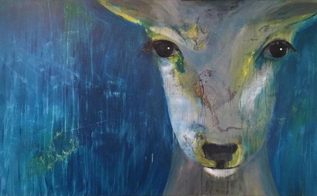 Helga Stein, ohne Titel, 2017,  Acryl auf Leinwand, 120 x 80 cm