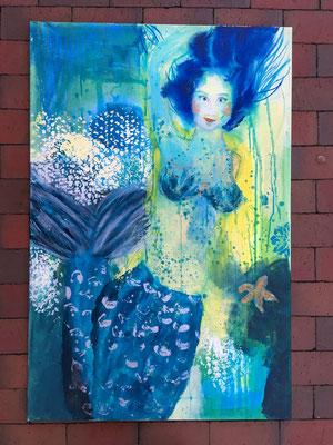 """""""Meerjungfrau"""" 80 x 120 cm - 1070,- Euro"""