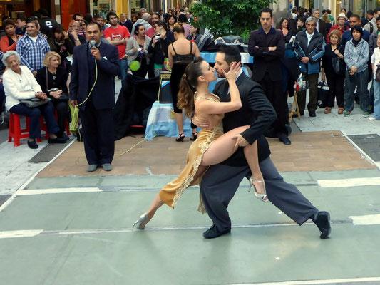 Tangoshow in der Fussgängerzone von BA