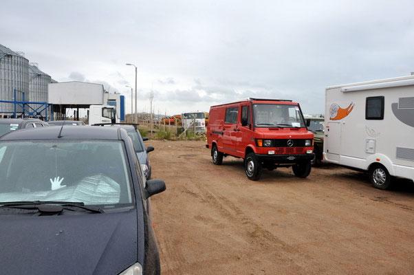 Alles geklappt, Lotti im Hafen von Montevideo