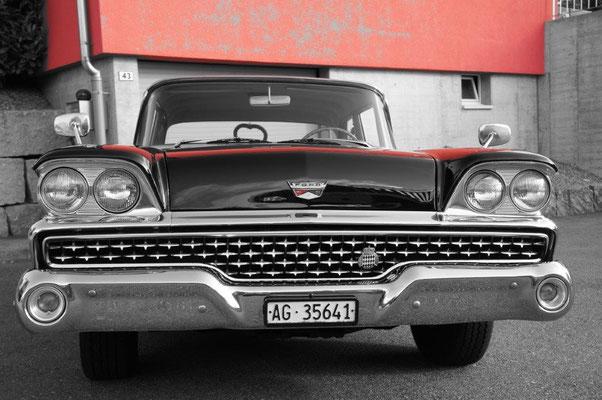 Ford Fairlane 500 Jahrgang 1959 Schwarz 6 Personen  hubers-oldtimerfahrten.jimdo.com