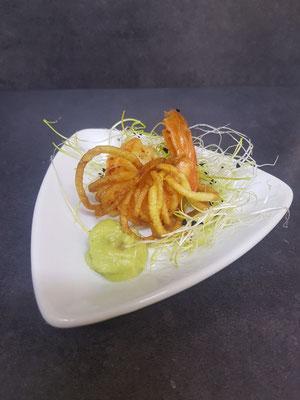 Garnele im Kartoffelnest