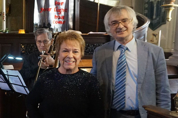 Martin Bates with fellow organist and pianist, Margaret Croucher