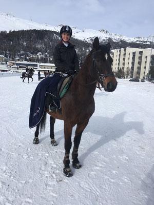 Tatj mit HETS Schulpferd Zaubi am Winterconcours 2018
