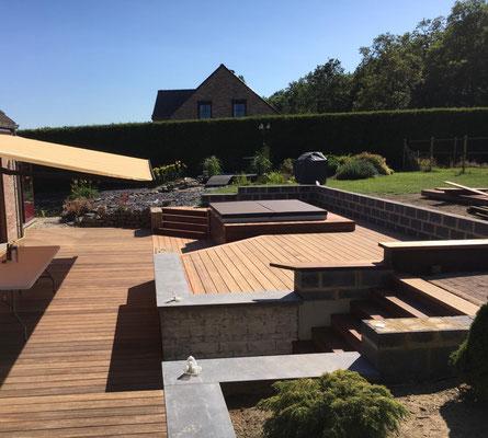 Réalisation d'un plancher de terrasse