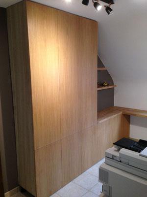 Fabrication et pose d'un bureau