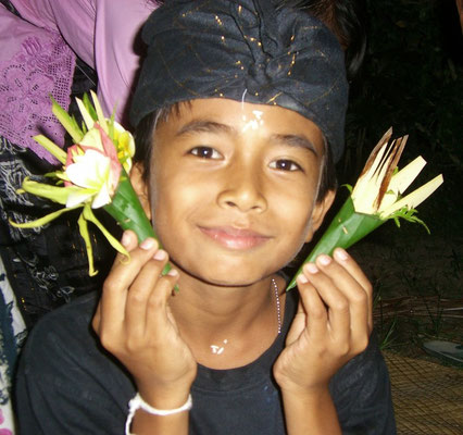 boy at ceremony