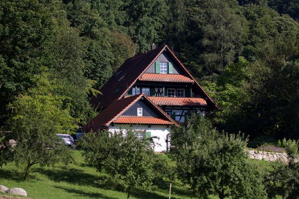 Ferienhaus Straubehof vom Garten aus