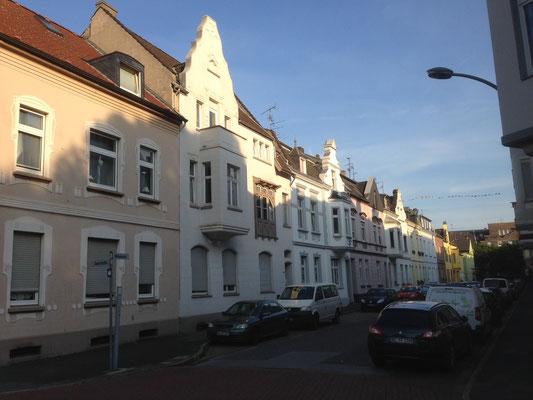 Verschiedene Fassaden in Duisburg Homberg teilweise unter Denkmalschutz stehend
