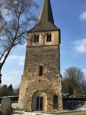 Restaurierung / Denkmalpflege Kirchen Turm  Grüten aus Naturstein
